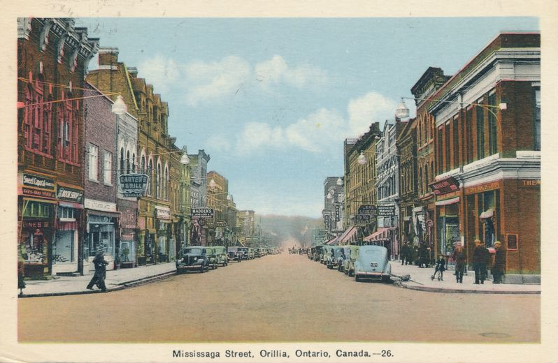 Mississaga (Mississauga) Street at Orillia, Ontario, Canada - pm 1940 at Lake Couchiching