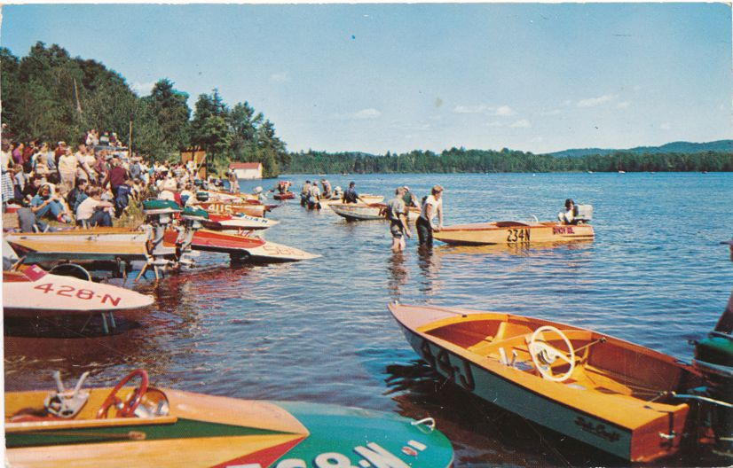 Ready for annual Motor Boat Races - Old Forge, Adirondack Mountains, New York