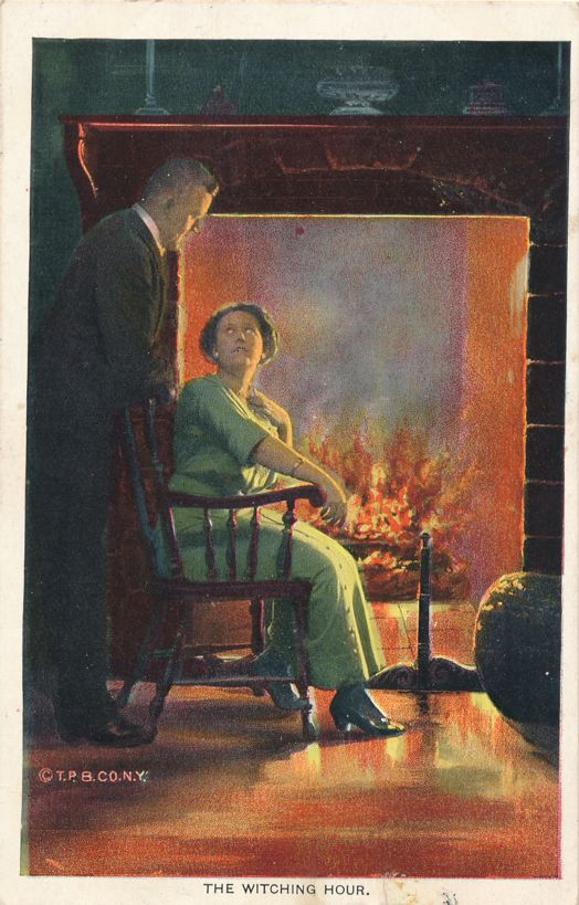 Romance Witching Hour - Pub Taylor Platt - Fireside Series - pm 1912 at Geneva NY - Divided Back
