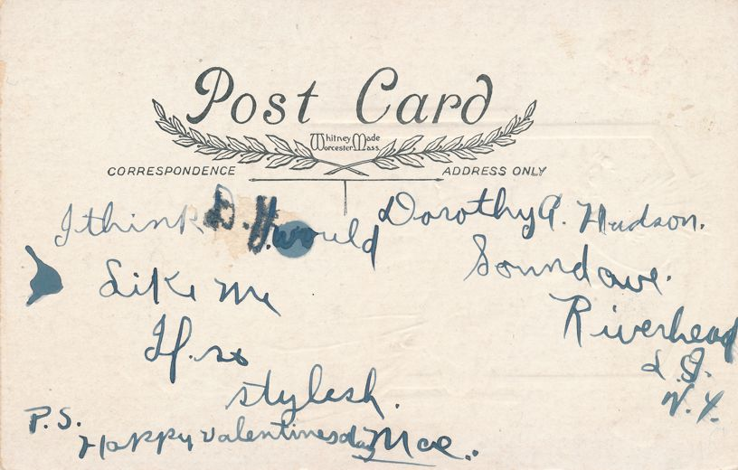 Valentine Greetings - Long Time Fixing and Primping - Whitney Made - Divided Back