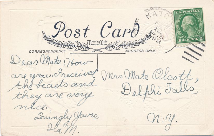 Valentine Greetings - Love not in a Cottage but in a Bungalow - pm 1915 at Kato PA - Whitney Made - Divided Back
