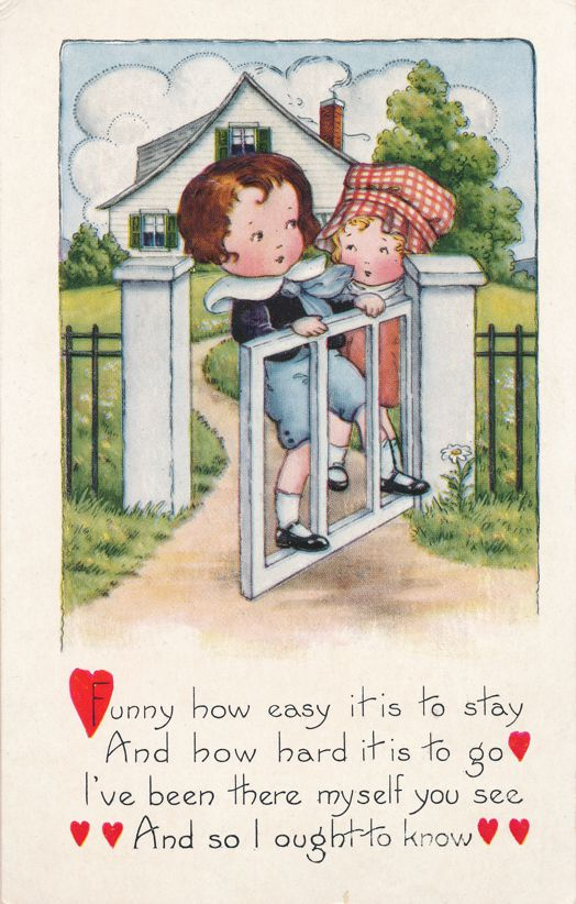 Valentine Greetings - Easy to Stay - Hard to Leave - Whitney Made - Divided Back