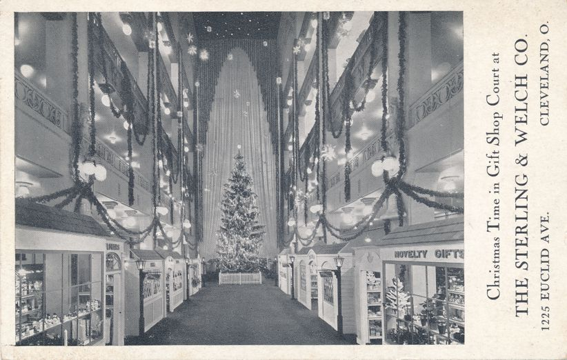 Christmas Tree in Gift Shop Court - Sterling and Welch Co., Cleveland Ohio
