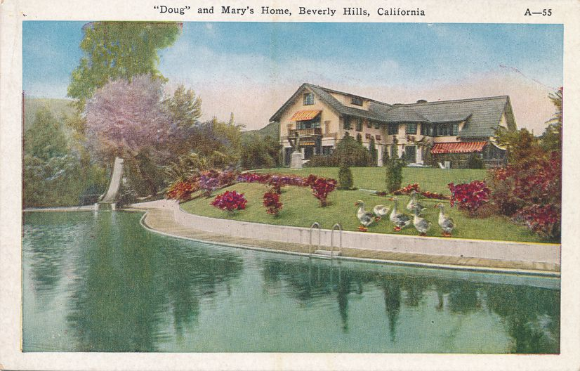 Picfair - Home of Douglas Fairbanks and Mary Pickford - Beverly Hills, California - White Border