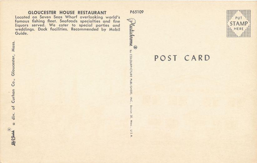 Gloucester House Restaurant on Seven Seas Wharf - Gloucester, Massachusetts