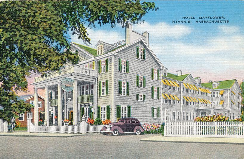 Hotel Mayflower at Hyannis, Massachusetts - Linen Card