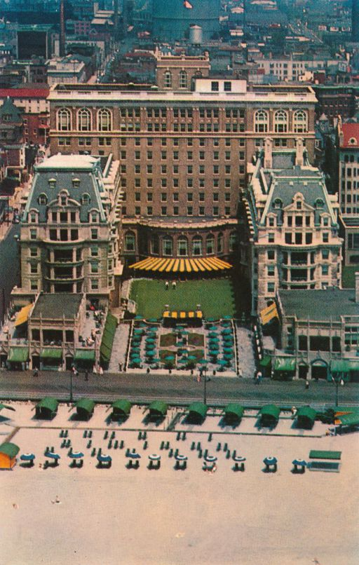 Atlantic City, New Jersey - Hotel Dennis from the Air