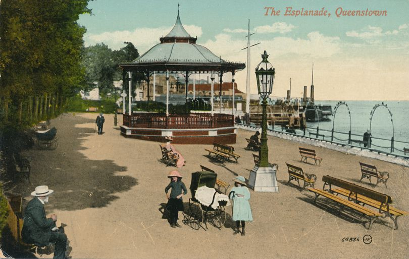 The Esplanade at Queenstown, Ireland - Now Cobh, County Cork - Divided Back