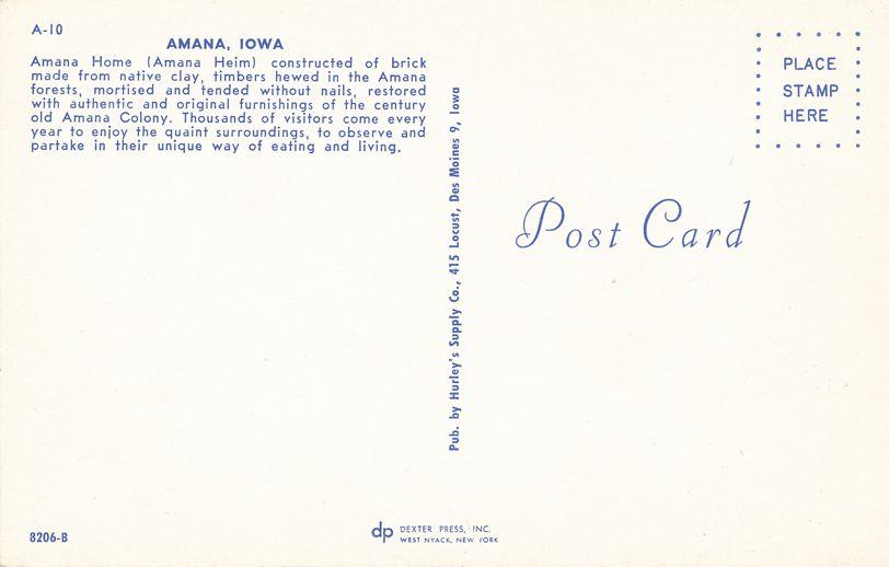 Amana Home restored with authentic old Amana Colony furnishings - Amana, Iowa