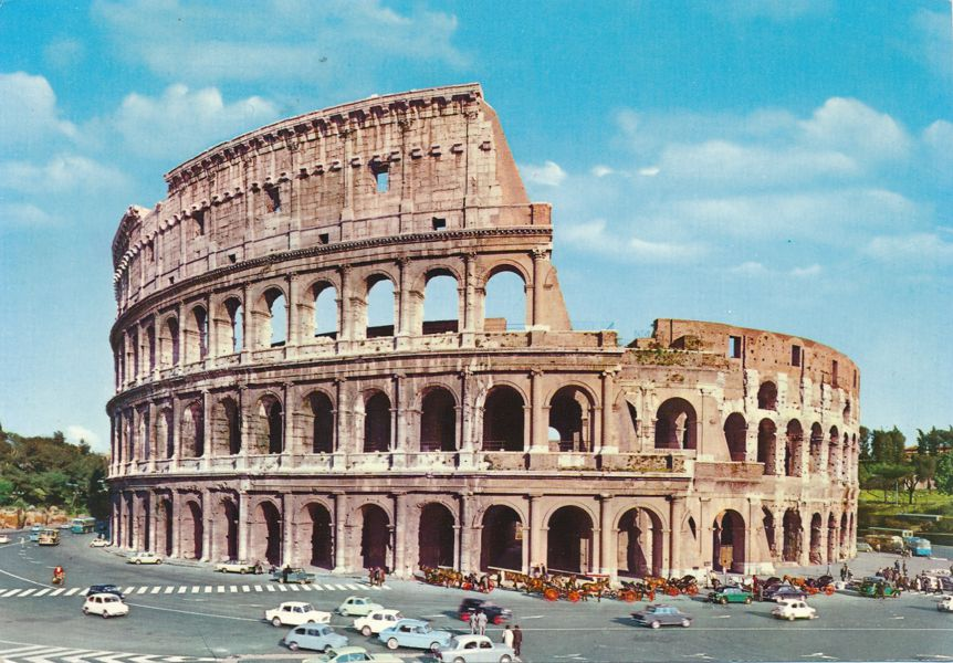 Rome, Italy - The Coliseum - Il Colosseo - pm 1969 at Celano