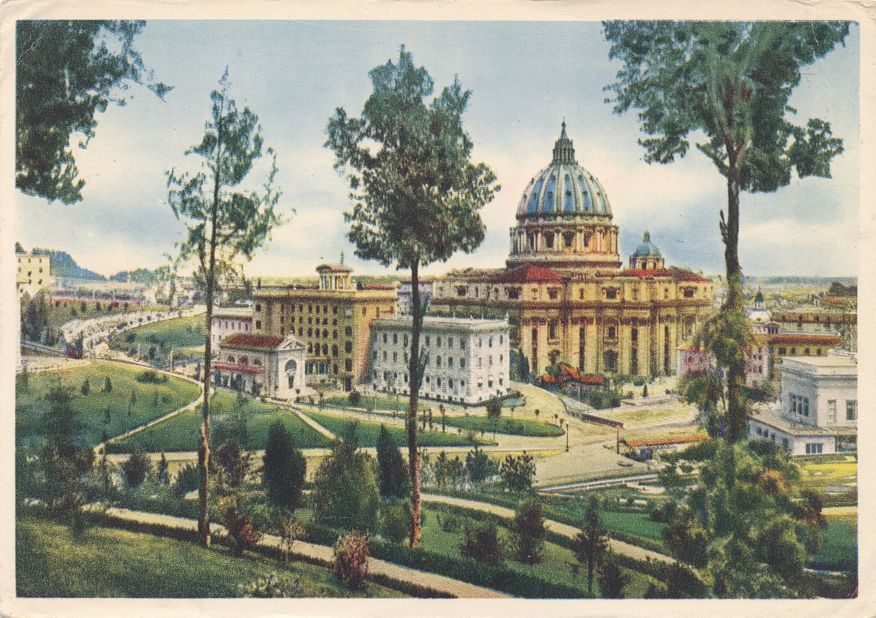 Vatican, Italy - Palaces and St Peter's Church - circa 1937