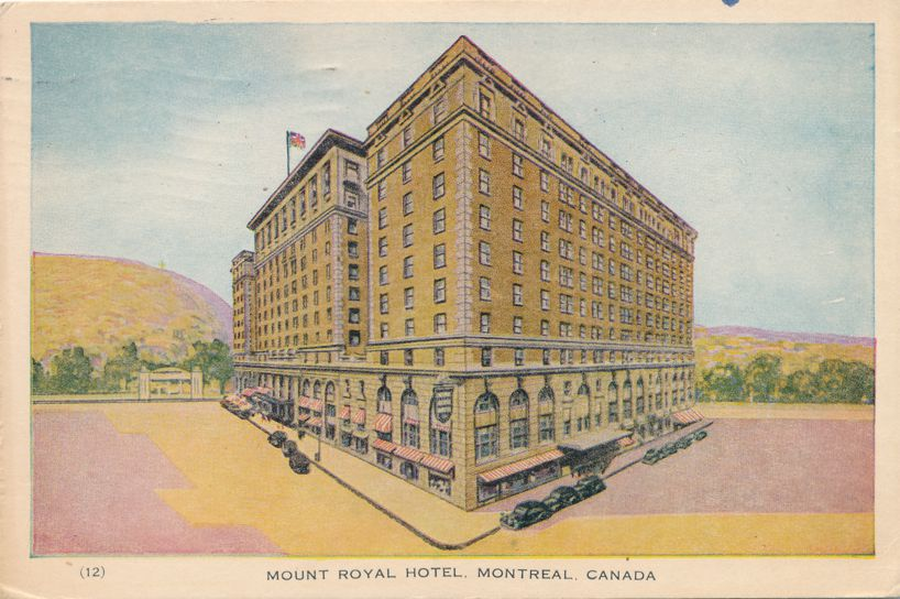 Mount Royal Hotel in Montreal, Quebec, Canada - pm 1947