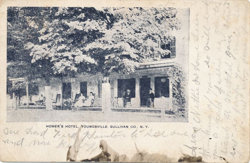 Resident's at Homer's Hotel - Youngsville, Sullivan County, New York - pm 1906 - Undivided Back