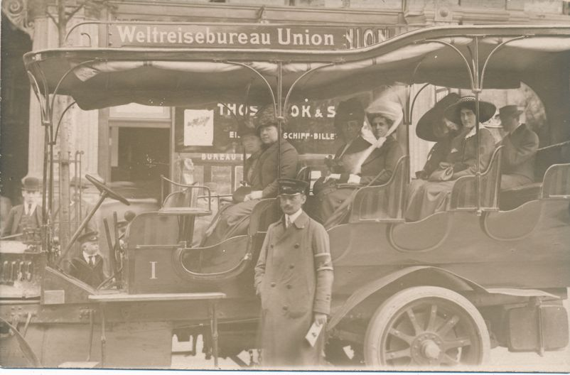 RPPC World Travel Bureau Automobile Tours - Berlin, Germany - Real Photo