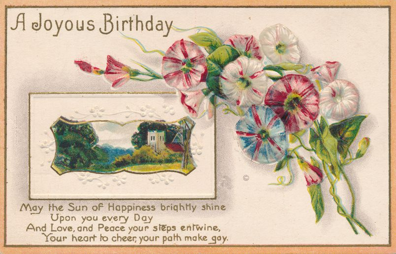 Happy Birthday Greetings - May The Sun of Happiness Shine - J J Marks - Divided Back