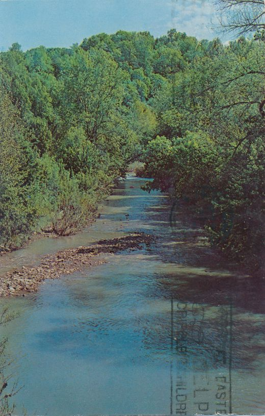 Tygart Creek in Carter Caves State Park - Olive Hill, Kentucky - pm 1974