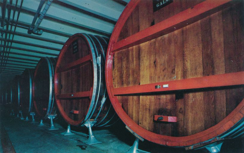 Naples, New York - Giant Wine Casks at Widmer's Wine Cellars
