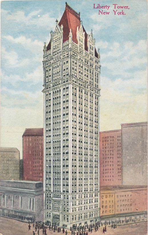 Liberty Tower at Liberty and Nassau Streets, New York City - Divided Back