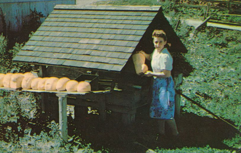 Bread Loaves at Open Air Oven - Scenic Gaspe, Quebec, Canada