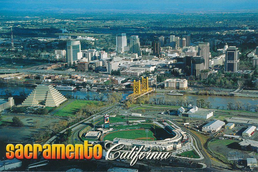 Aerial View of Sacramento, California showing Raley Baseball Field