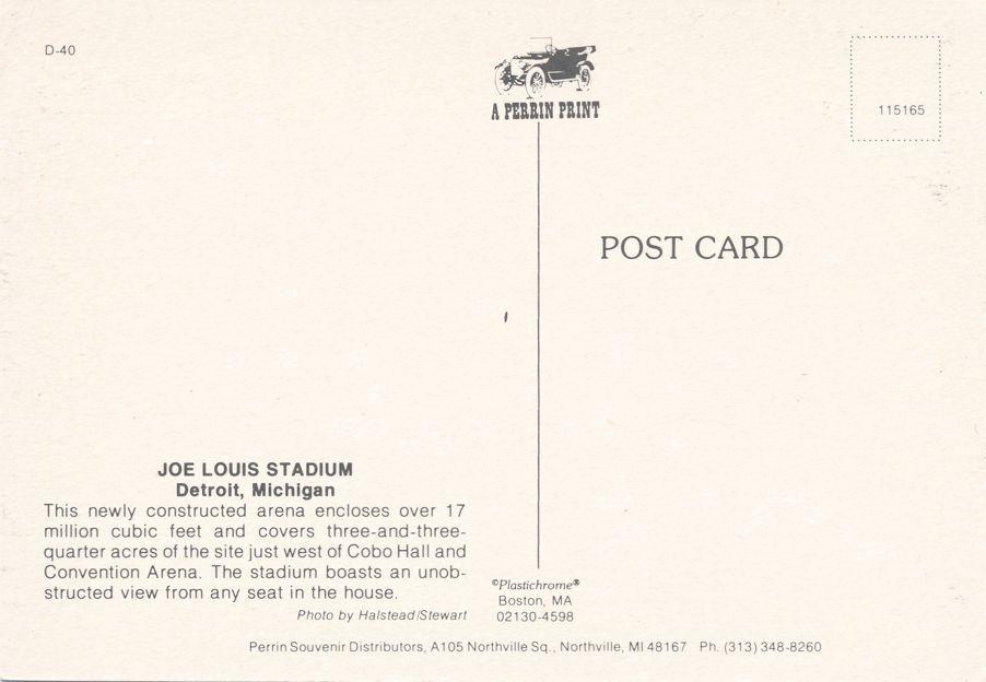Joe Louis Stadium Arena - Detroit, Michigan - Basketball and Red Wing Hockey