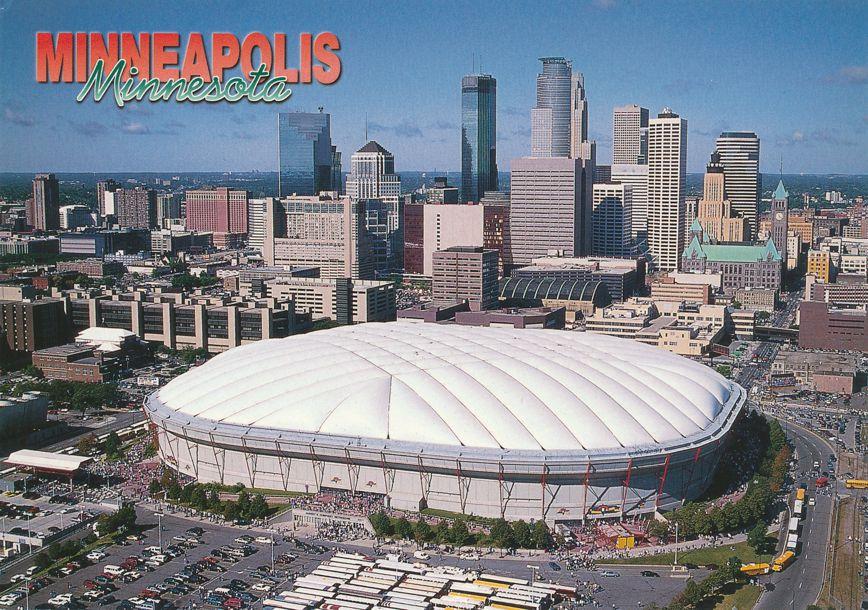 Metrodome at Minneapolis, Minnesota - Vikings Football and Twins Baseball