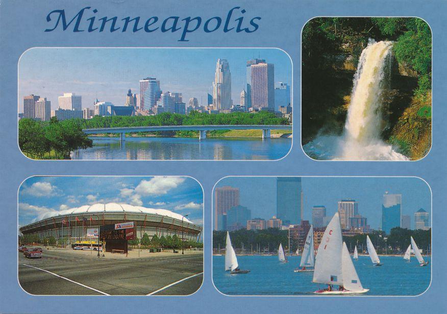 Minneapolis, Minnesota Multiview including Metrodome and Minnehaha Falls