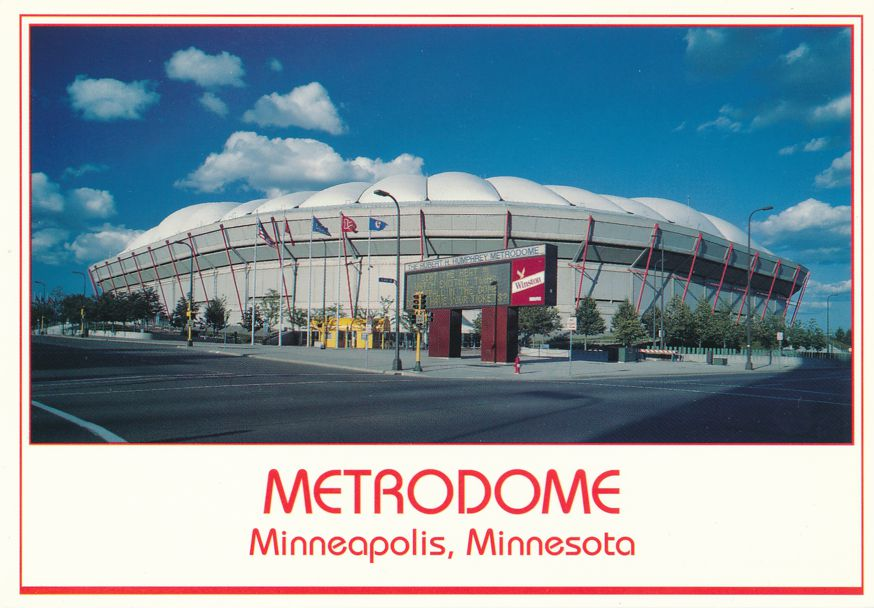 Metrodome at Minneapolis, Minnesota - Home to Vikings Football and Twins Baseball