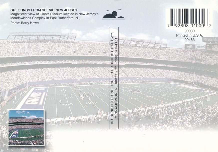 New York Giants Football Game in Progress - Meadowlands, East Rutherford, New Jersey