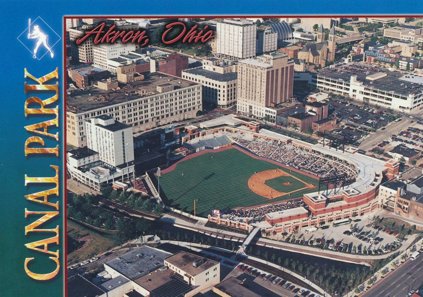 Akron, Ohio - Canal Baseball Park Stadium - Game in Progress