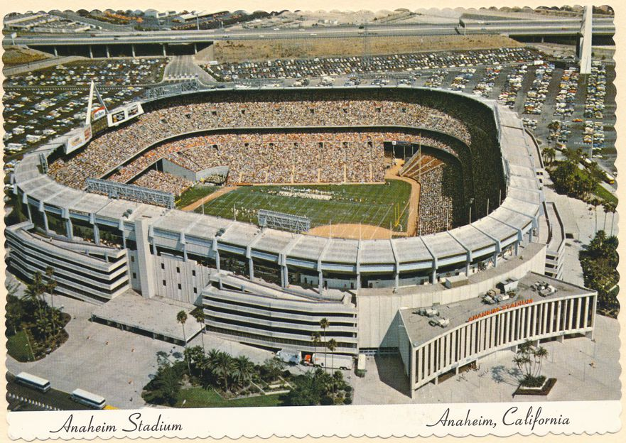 Stadium at Anaheim, California - Angels Baseball and Los Angeles Rams Football