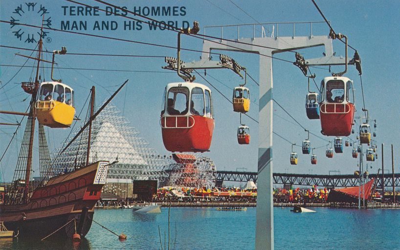 Sky Ride at Man and His World - Terre Des Hommes - Montreal, Quebec, Canada