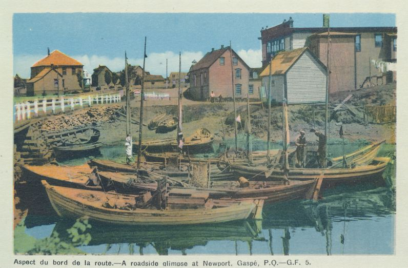 Fishing Boats - Roadside Glimpse at Newport, Gaspe, Quebec, Canada