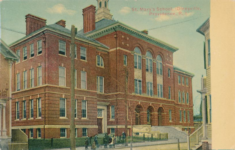 St. Mary's School, Olneyville, Providence, Rhode Island - Divided Back