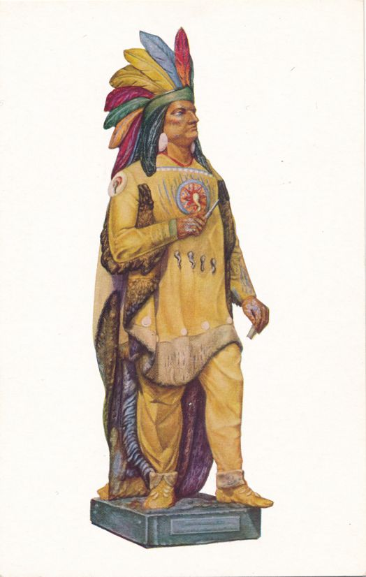 Cigar Store Indian - Native American Culture from Watercolor by Harriette Gale
