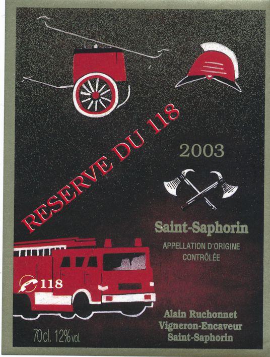 Switzerland Saint-Saphorin - Fire Truck Reserve Du 118 - Ephemera Sticker