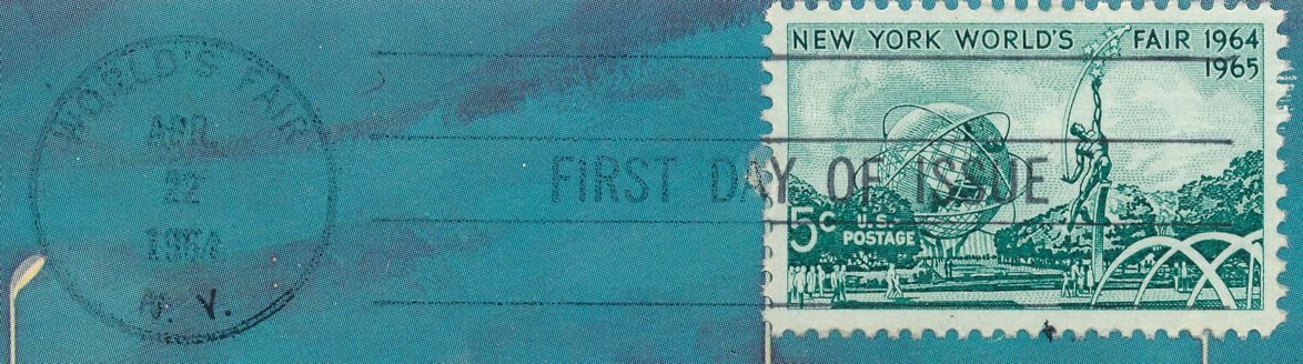 United States sc# 1244 FDC on Postcard- 1964 World Fair at New York City - pm 1964 at World's Fair NY