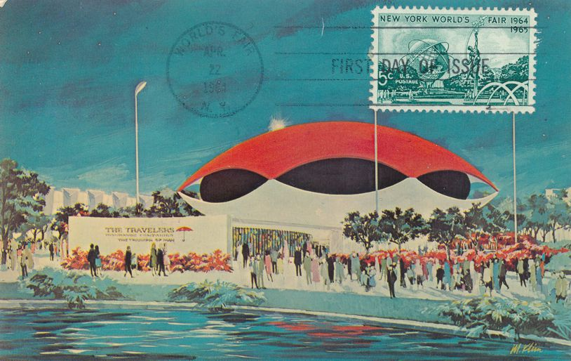 United States sc# 1244 FDC on Postcard- 1964 New York City World Fair - pm 1964 at World's Fair NY
