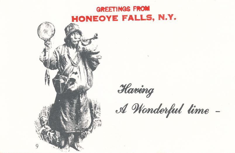 Greetings from Honeoye Falls, New York - Having Wonderful Time - Village Print Humor