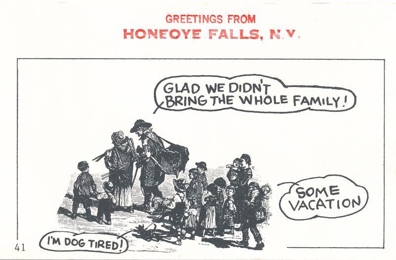 Greetings from Honeoye Falls, New York - Dog Tired - Village Print Humor