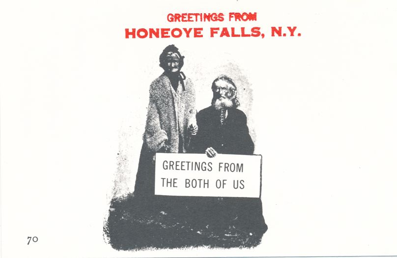 Greetings from Both of Us in Honeoye Falls, New York - Village Print Humor