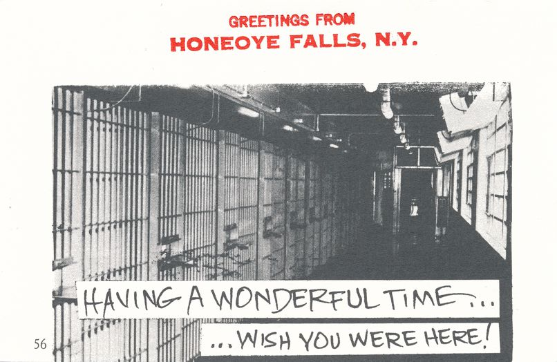 Greetings from Honeoye Falls, New York - Wonderful Time - Village Print Humor