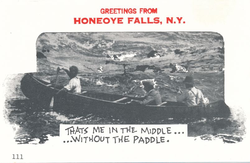 Greetings from Honeoye Falls, New York - Without a Paddle - Village Print Humor