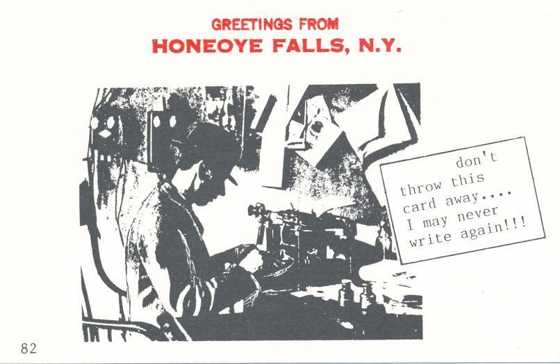 Greetings from Honeoye Falls, New York - Won't Write Again - Village Print Humor