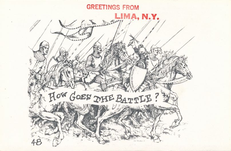 Greetings from Lima, New York - How Goes The Battle ? - Village Print