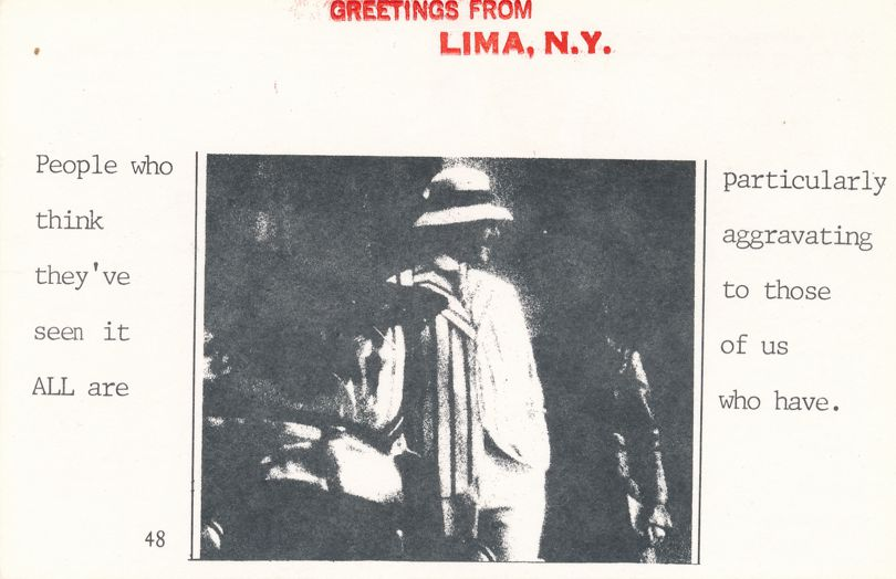 Greetings from Lima, New York - People Who Know it All - Village Print Humor