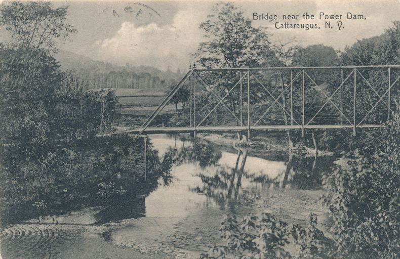 Bridge near the Power Dam - Cattaraugus, New York - pm 1908 - Divided Back