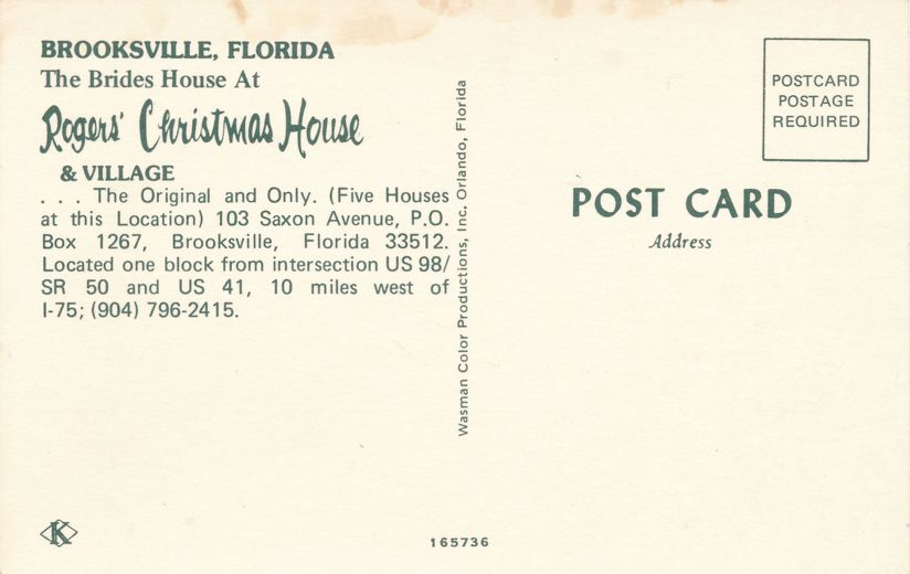 Brides House at Rogers Christmas House - Brooksville, Florida