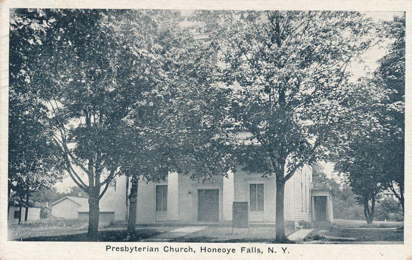 Honeoye Falls, New York - Presbyterian Church - pm 1935 - White Border