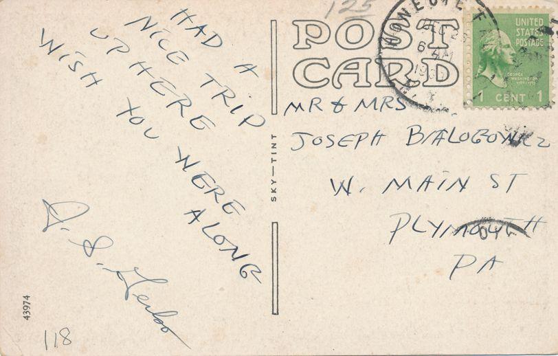 Honeoye Falls, New York - Honeoye Falls High School - Sky Tint - pm 1933 - White Border